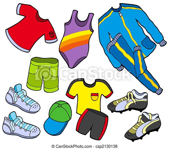 desporto, cobrança, roupas - csp2130138