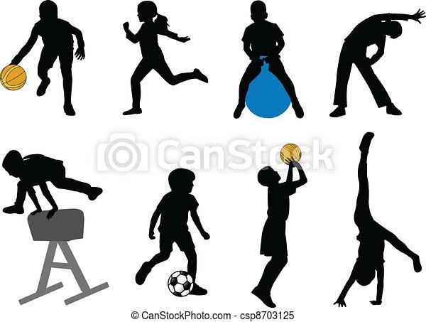 desporto, crianças - csp8703125