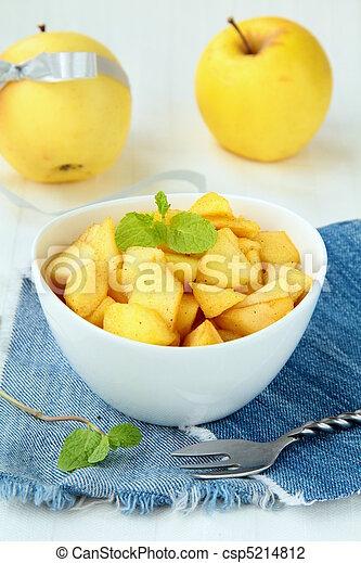 Dessert apples with mint - csp5214812