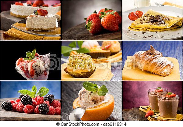 Dessert - Collage - csp6119314