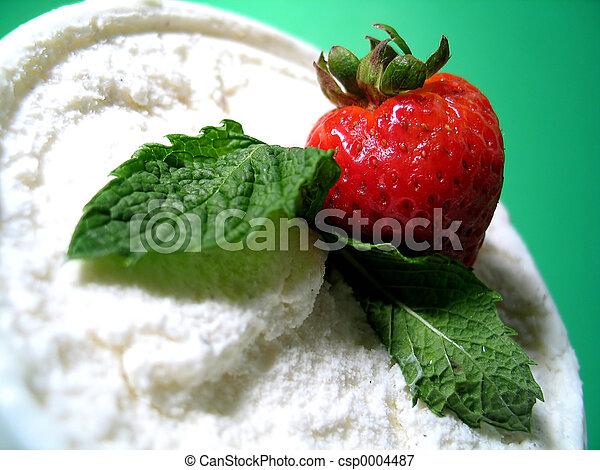 dessert, gelato - csp0004487