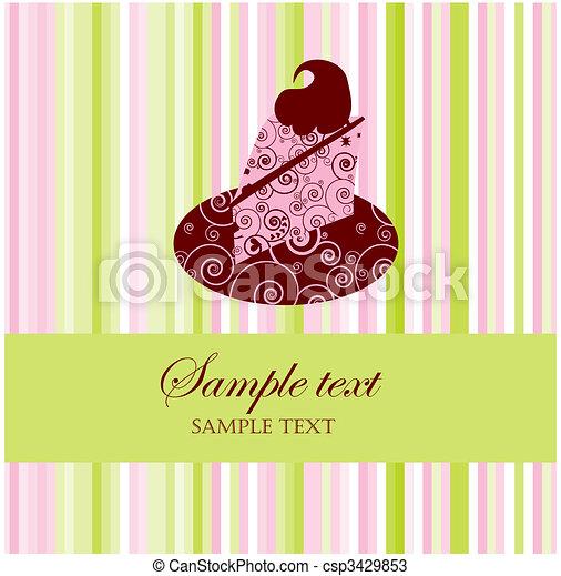 dessert, menu, of, kaart, groet - csp3429853