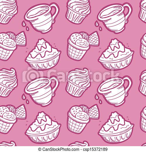 dessert pattern - csp15372189