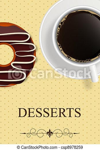 dessert, vector, menu - csp8978259