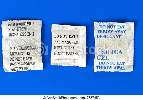 Dessicant, silica gel - csp17887453