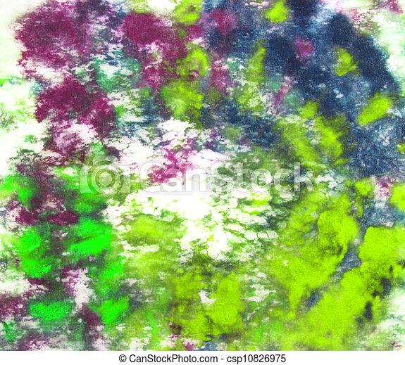 Dessiné, background:, peinture, résumé, main, motifs, violet, vert ...