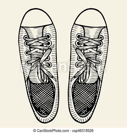 cf33652aba22f Patineurs Chaussures Croquis Dessiné Sport Main qxIYvqHX
