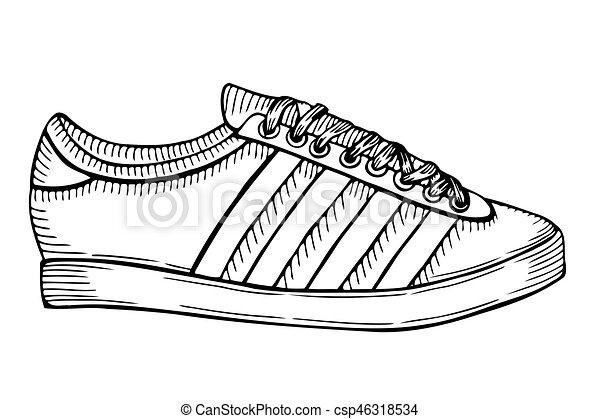 Illustration Dessiné Main Sport Croquis Chaussures qwRfHwI8