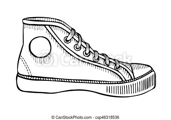 Chaussures Main Croquis Sport Illustration Dessiné aq5YfA8