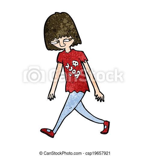 dessin animé, adolescent - csp19657921