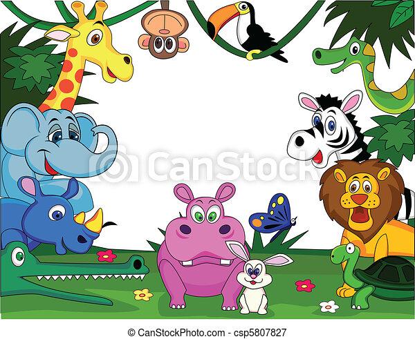 dessin animé, animal - csp5807827