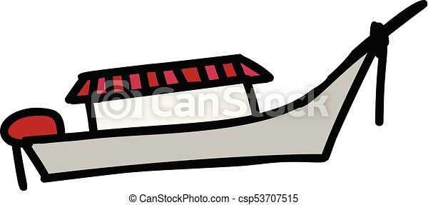 dessin animé, bateau, icône - csp53707515