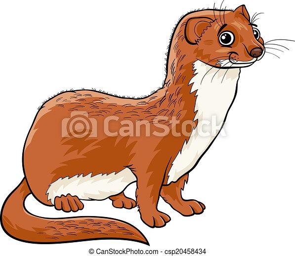 Mignon dessin anim belette illustration animal - Dessin de belette ...