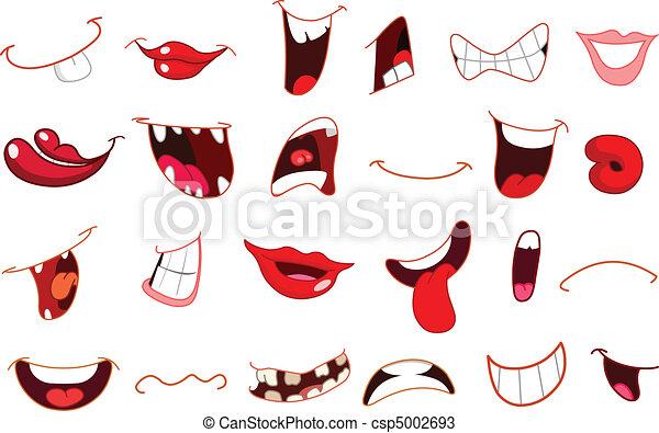 Dessin anim bouches ensemble bouche dessin anim - Bouche en dessin ...