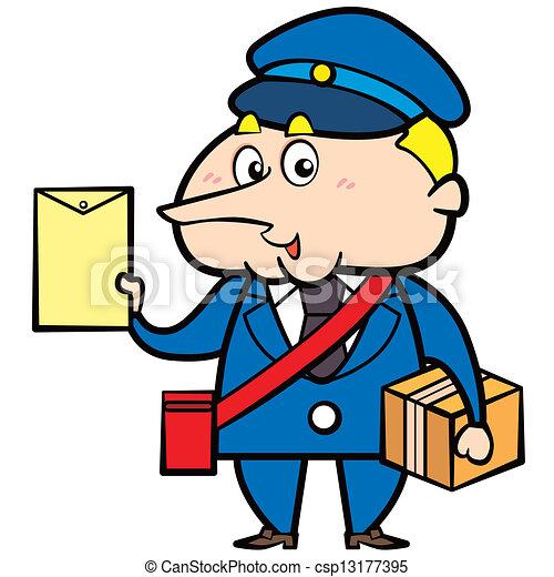 Dessin anim facteur lettre paquet - Facteur dessin ...