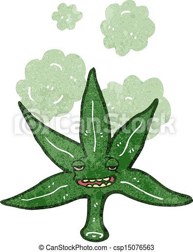 Dessin anim feuille marijuana retro - Dessin feuille cannabis ...