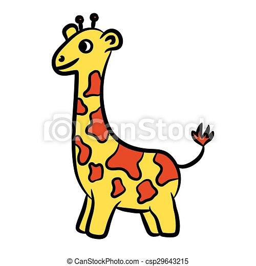dessin animé, girafe - csp29643215