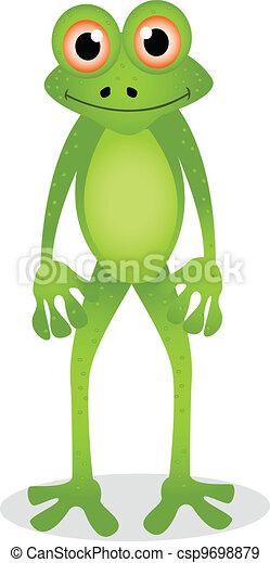dessin animé, grenouille - csp9698879