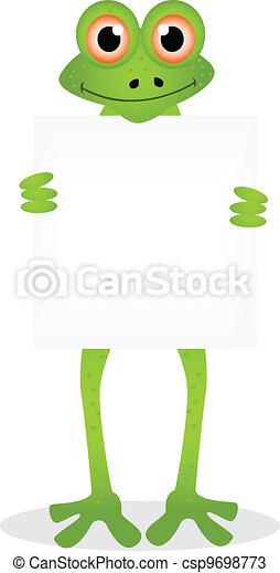 dessin animé, grenouille - csp9698773