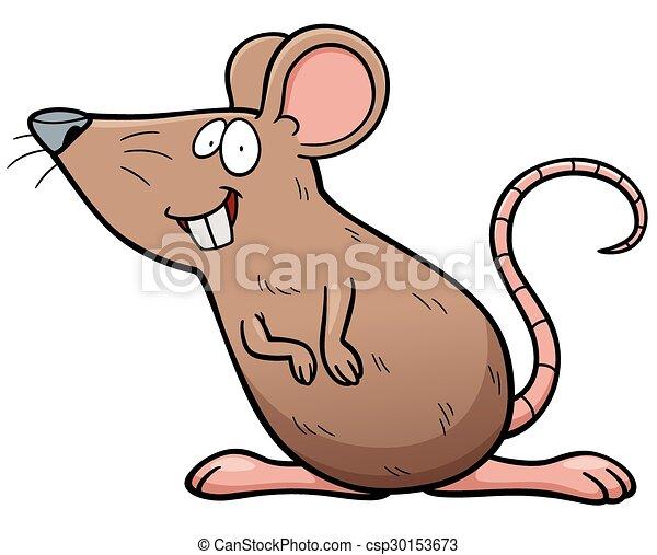 dessin animé, rat - csp30153673