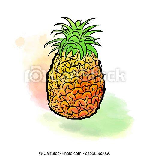 Dessin color ananas fait color color - Dessin colore ...