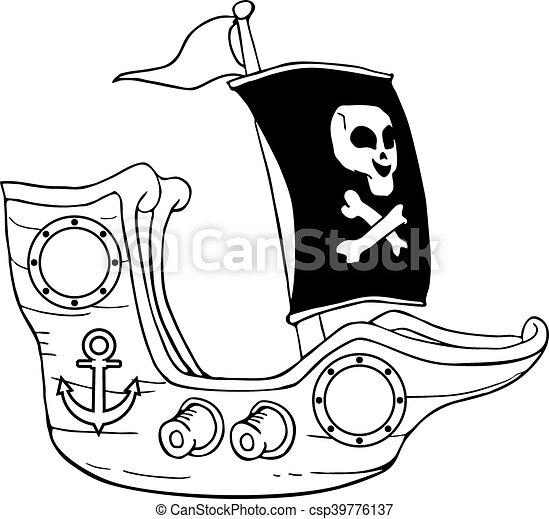 Dessiner Bateau Pirate Pirate Dessiner Conception Bateau Creatif Canstock
