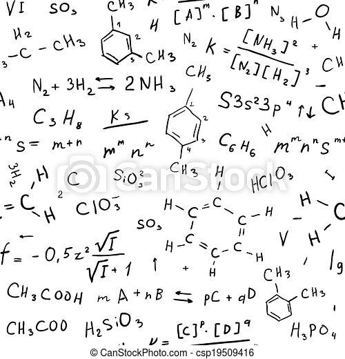 dessiner, chimie, fond, main - csp19509416