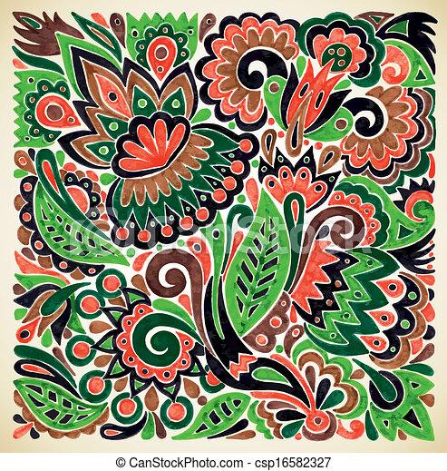 Dessiner fleur main vecteur conception ethnique - Photo de fleur a dessiner ...