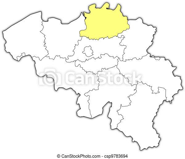 Destacado Mapa Antuerpia Belgica Mapa Antuerpia Politico