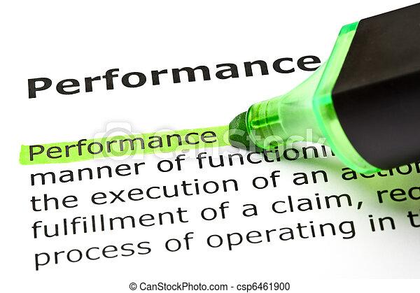 destacado, verde, 'performance' - csp6461900