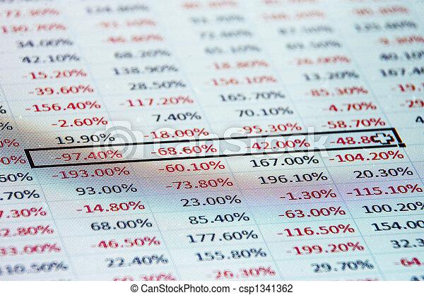 destaque, -, spreadsheet - csp1341362
