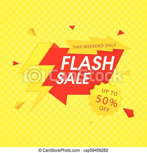 Red Flash Sale al 50% de la imagen de vector amarillo de fondo - csp56456282