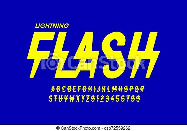 Font estilo Flash Relámpago - csp72559262