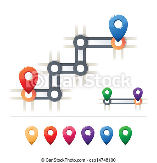 Destination and map icons - csp14748100