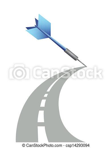 Diseño de ilustración de caminos - csp14293094