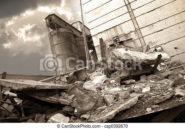 Destroyed factory - csp0392670