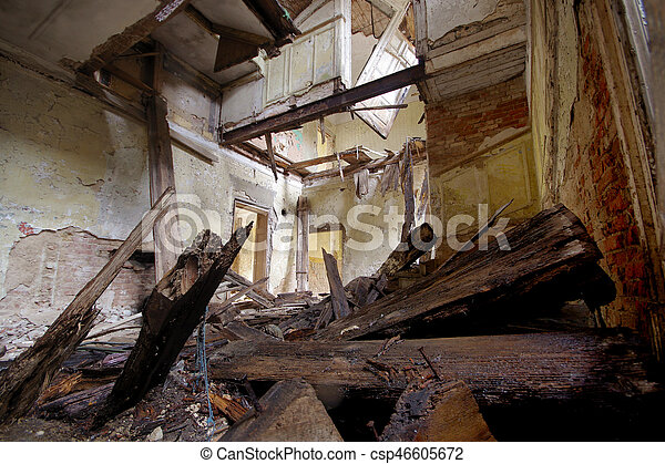 Destroyed house - csp46605672