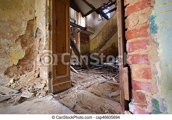 Destroyed house - csp46605694