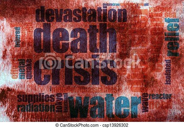 Destruction word cloud - csp13926302