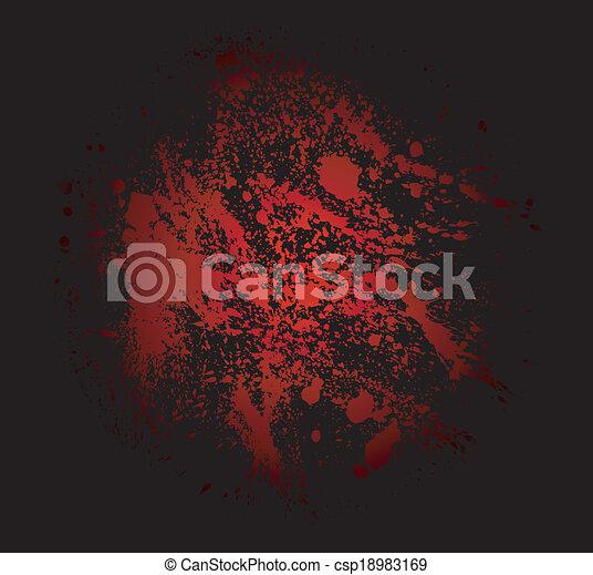 det stänker, abstrakt, blod, bakgrund - csp18983169