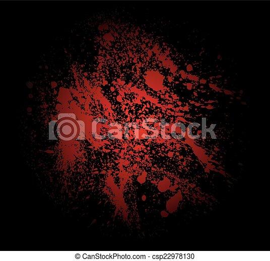 det stänker, blod - csp22978130
