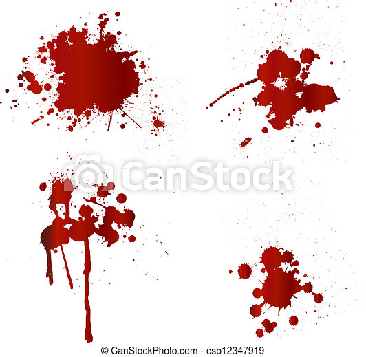 det stänker, blod - csp12347919