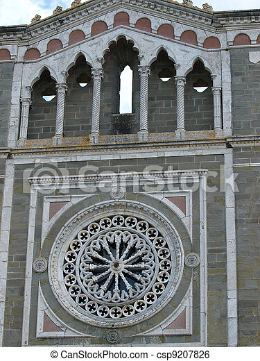 Detail from the facade of the church of St. Margaret of Cortona - csp9207826