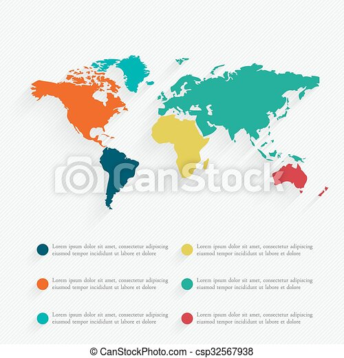 Detail infographic vector illustration. World Map and Information Graphics - csp32567938