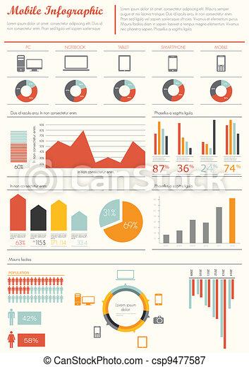 Detail infographic vector  - csp9477587