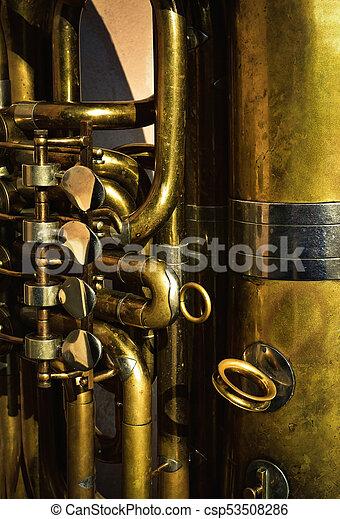 detail of a brass musical instrument - csp53508286