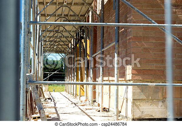 detail of a building site - csp24486784