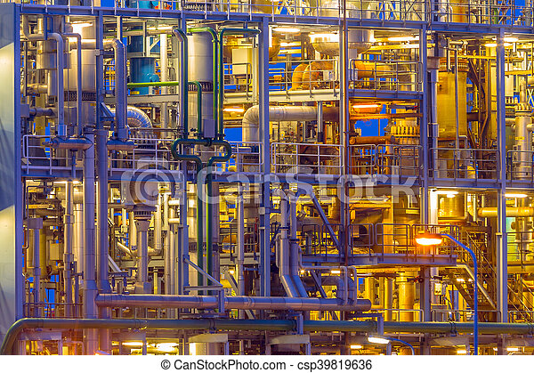 Detail of a Chemical plant Framework - csp39819636