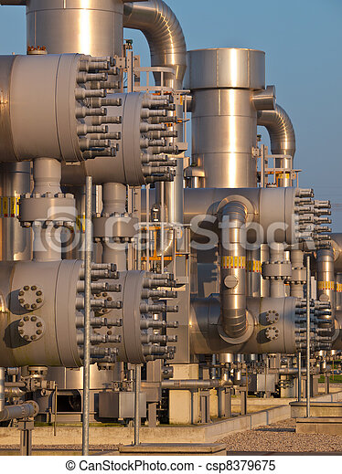 Detail of a natural gas processing plant - csp8379675