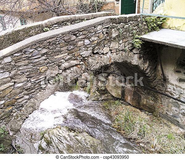 detail of a old bridge - csp43093950